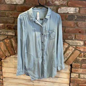 Liverpool Tunic Length Tencil Denim Shirt Medium